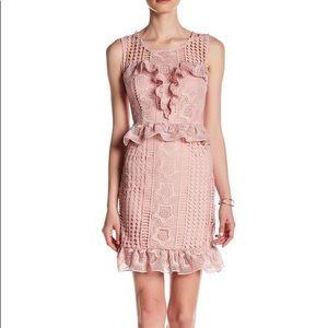 NWOT Romeo + Juliet Dusty Pink Crochet Dress sz M!